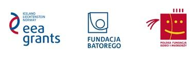 Tyrzy logotypy: Funduszy Norweskich, Fundacji Batorego oraz Polskiej Fundacji Dzieci i młodzieży