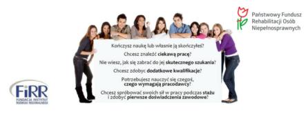 """Część plakatu """"Staże drogą do zatrudnienia na otwartym rynku pracy"""