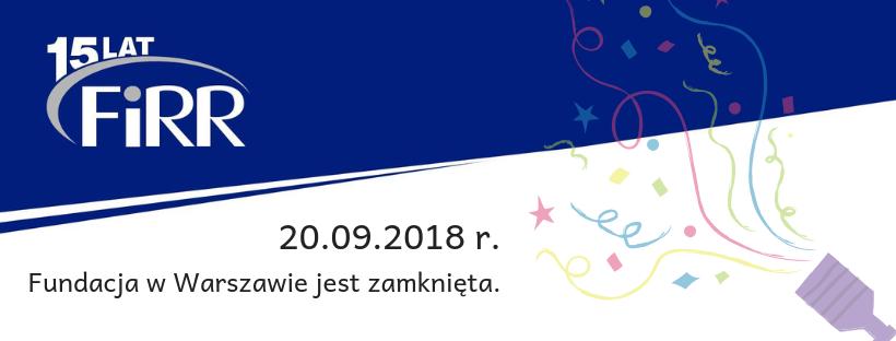Praca Fundacji 20 września 2019 r.