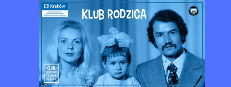Banner z grafiką promującaą Klub Rodzica