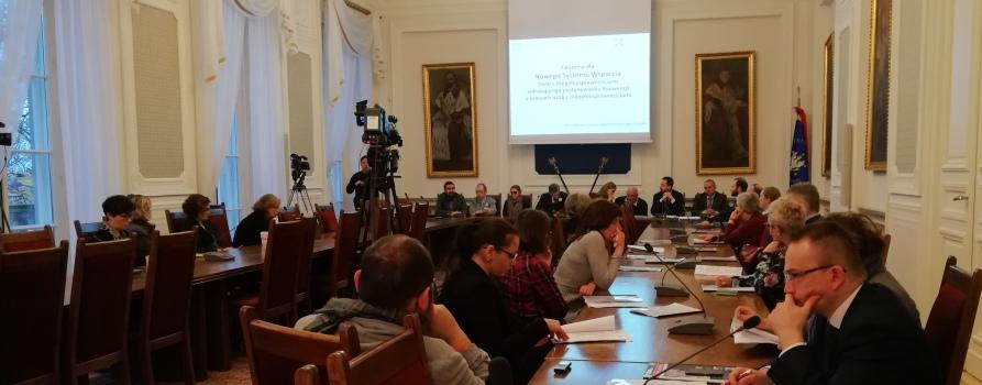 Konferencja prasowa Za Niezależnym Życiem w Warszawie