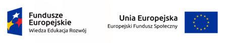 Logo Funduszy Europejskich Wiedza Edukacja Rozwój oraz Europejskich Funduszy Społecznych