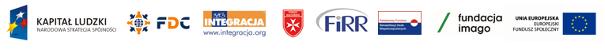 Logotypy unijne i pozostałych sponsorów, FDC, Integracja, FIRR, PFRON, Fundacja Imago