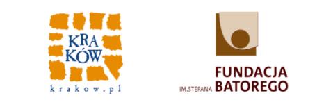 Dwa logotypy: miasta Kraków oraz Fundacji Batorego