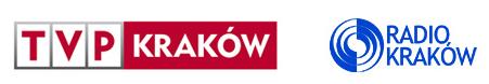Logotypy TVP Kraków i Radio Kraków