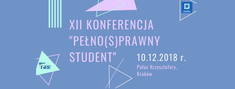 Banner Konferencji Pełno(s)prawny Sudent XII