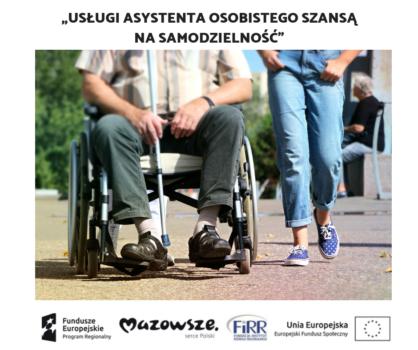Grafika promująca ogłoszenie o usłudze asystenckiej.