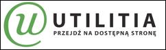logotyp firmy utilitia na białym tle zielone litery oraz nazwa firmy Utilitia przejdź na dostępną stronę