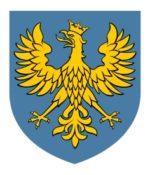 to jest herb województwa opolskiego. Na niebieskim tle jest złoty orzeł w koronie.