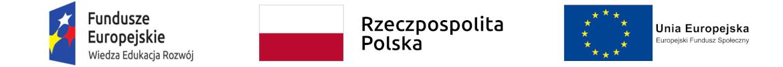 Logotypy Funduszy Europejskich, programu operacyjnego Wiedza Edukacja Rozwój, Rzeczpospolitej Polskiej i Unii Europejskiej