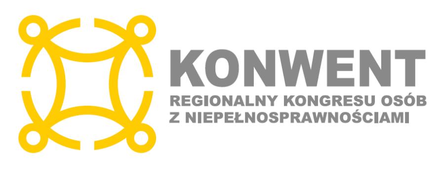 logotyp konwentu regionalnego kongresu osób z niepełnosprawnościami