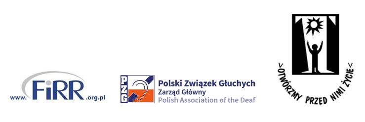 logotyp Fundacji Instytut Rozwoju Regionalnego, Polskiego Związku Głuchych oraz Polskiego Stowarzyszenia Osób z Niepełnosprawnością Intelektualna które będą realizować projekt szkoleniowy dla kadry kierowniczej