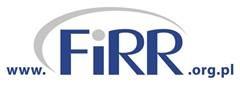 logotyp naszej fundacji, niebieskie litery na białym tle