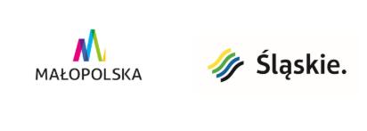 logotypy współorganizatorów: Samorząd Województwa Małopolskiego oraz Urząd Marszałkowski Województwa Śląskiego.
