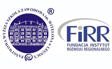 logotypy Państwowej Wyższej Szkoły Zawodowej imienia Witelona oraz Fundacji Instytut Rozwoju Regionalnego