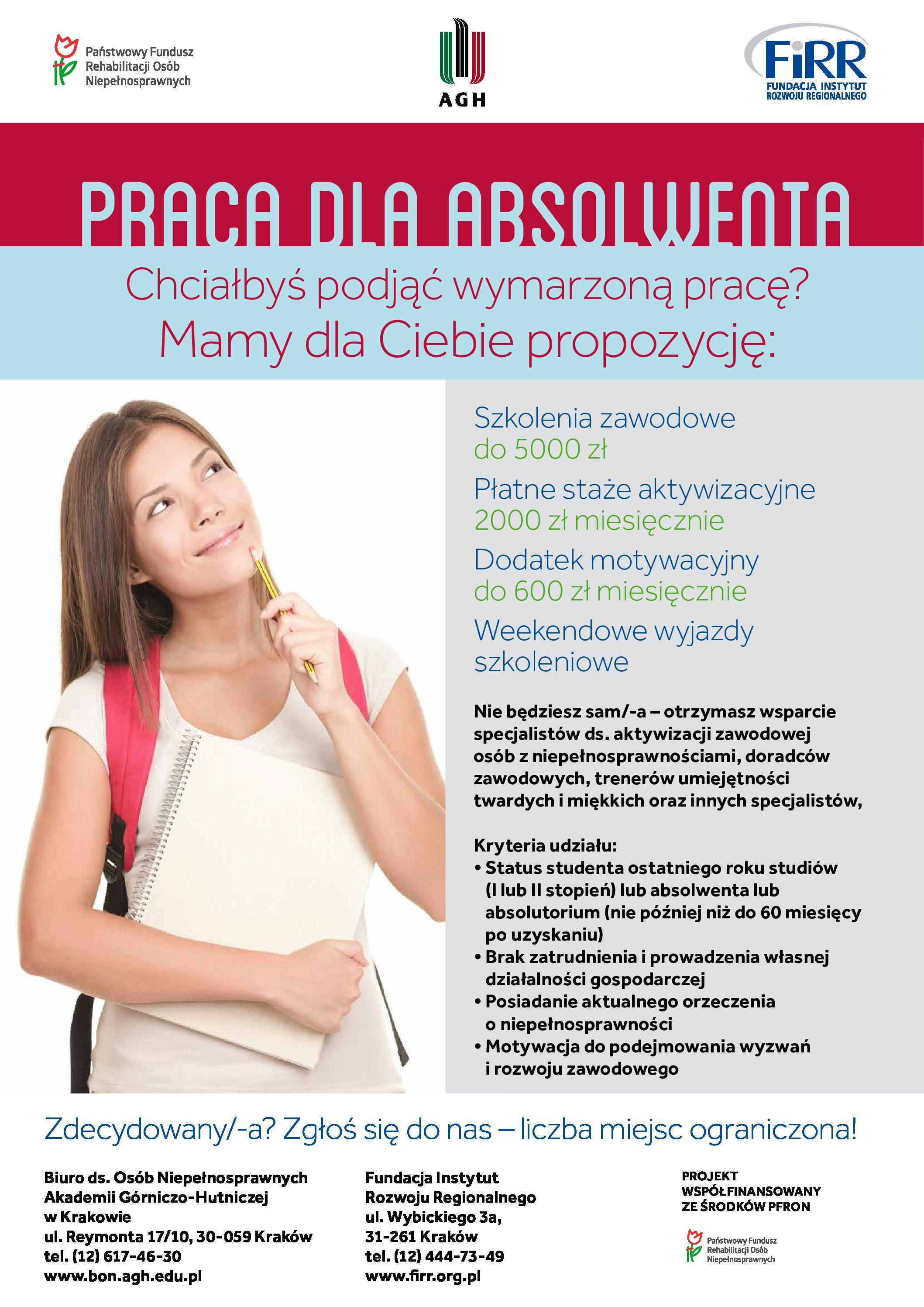 plakat projektu praca dla absolwenta