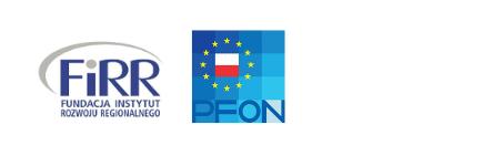 od lewej: logo fundacji instytut rozwoju regionalnego i logo polskiego forum osób z niepełnosprawnością