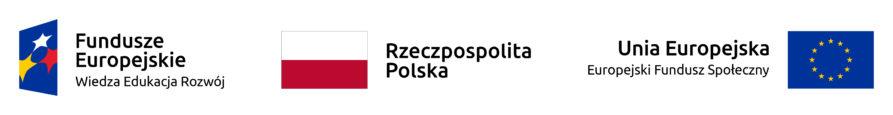 od lewej: flaga Funduszy Europejskich, flaga Polski, Flaga Unii Europejskiej