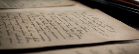 fragment zapisanej odręcznym pismem kartki.