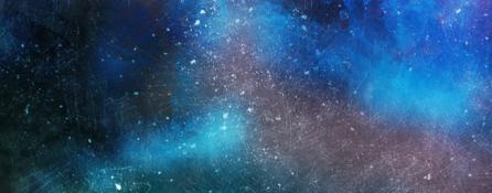 abstrakcyjny obraz. plamy utrzymane w różnych odcieniach niebieskiego, granatowego oraz fioletu