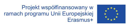 logo: projekt współfinansowany w ramach programu Unii Europejskiej Erasmus+