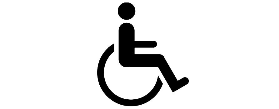 grafika przedstawiająca osobę na wózku inwalidzkim