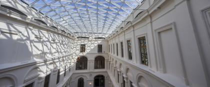 przeszklony dach muzeum książąt Czartoryskich