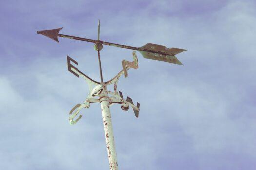 drogowskaz róży wiatrów - wskazuje 4 strony świata